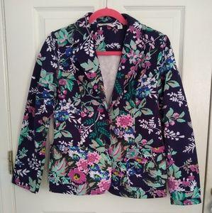 Isaac Mizrahi Live! Floral pointe knit blazer XS